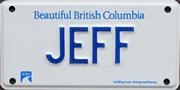 Jeff's License Plates